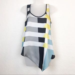 Rachel Roy Graphic Top With Asymmetrical Hem
